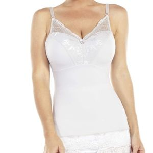Rhonda Shear Lace-Trim Pin-Up Camisole 2X